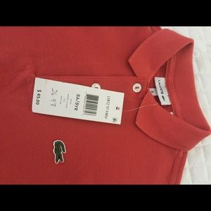 *NEW* Lacoste Orange Polo shirt
